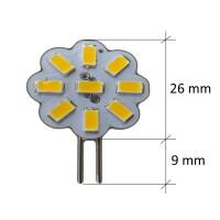 LED Lampen von LumenStar G4 LED Lampen Grosseto Abmessungen