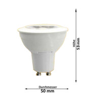 LED Lampen von LumenStar GU10 LED Lampen Torrent Abmessungen warmweiss